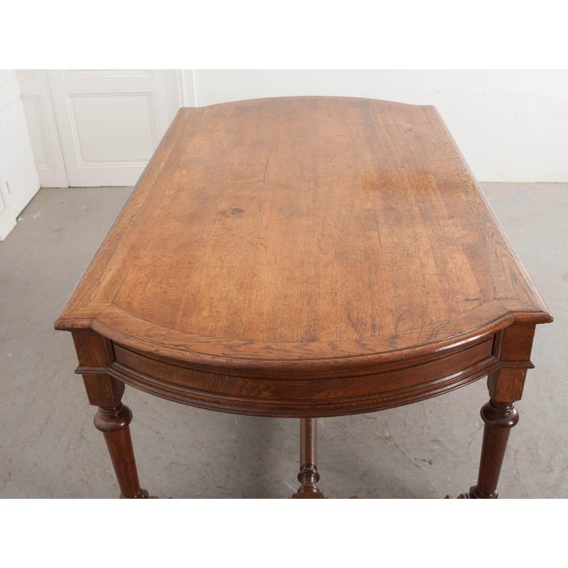 Wood 19th Century French Oak Sewing Table For Sale - Image 7 of 13