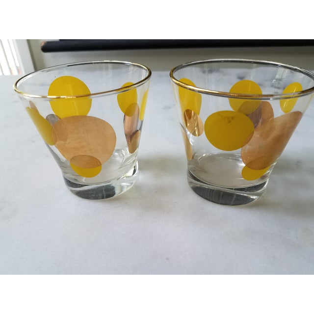 Russel Wright Mid-Century Eclipse Gold Cocktail Glasses - Set of 6 - Image 3 of 10