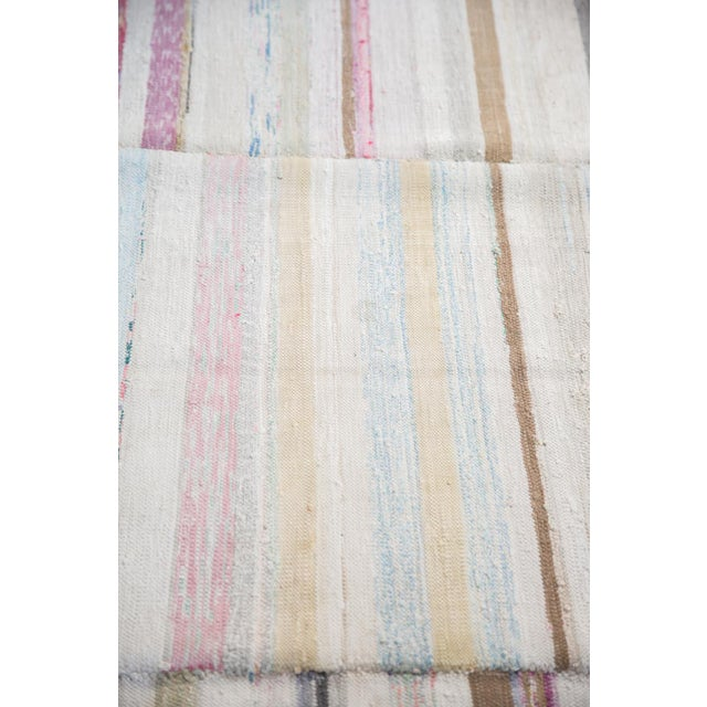 "Vintage Striped Rag Rug - 7'5"" x 9'11"" - Image 3 of 6"