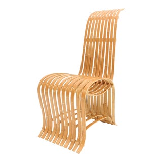 Midcentury Sculptural Bamboo Chair For Sale