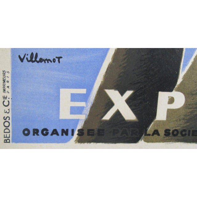 Modern 1949 Original French Exhibition Poster - Pour L'équipement De l'Union Française - Villemot For Sale - Image 3 of 6