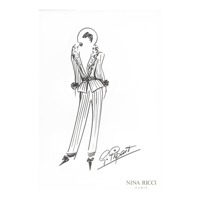 Nina Ricci Fashion Design Drawing Chairish
