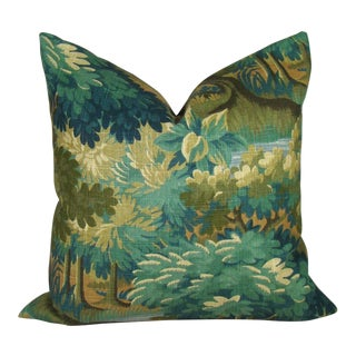 Verdure Print Linen Pillow Cover For Sale