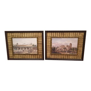 West Indies Framed Prints - a Pair For Sale