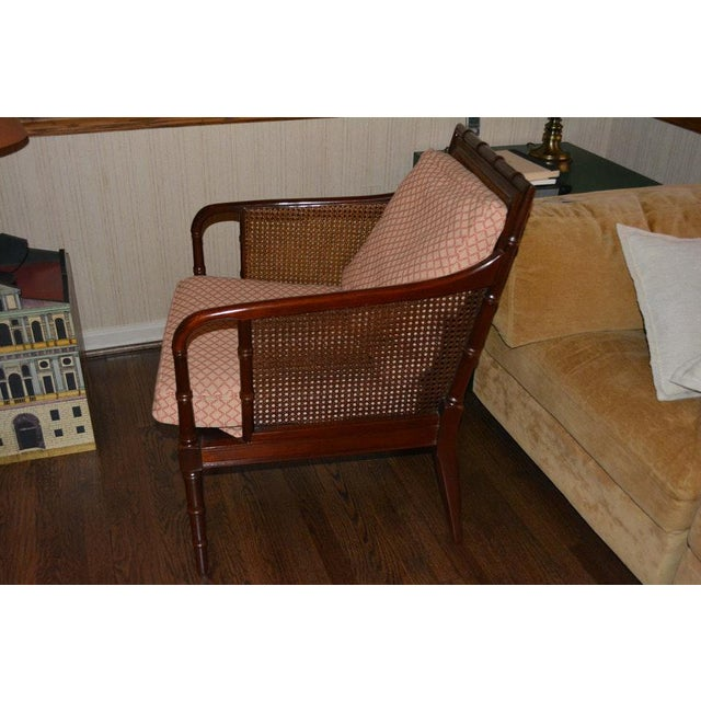 Hickory Chair Furniture Company 1970s Vintage Hickory Chair Company Cane & Mahogany Armchairs- a Pair For Sale - Image 4 of 13