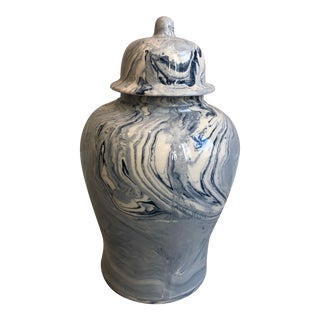Tozai Home Terre Melee Blue Temple Jar For Sale