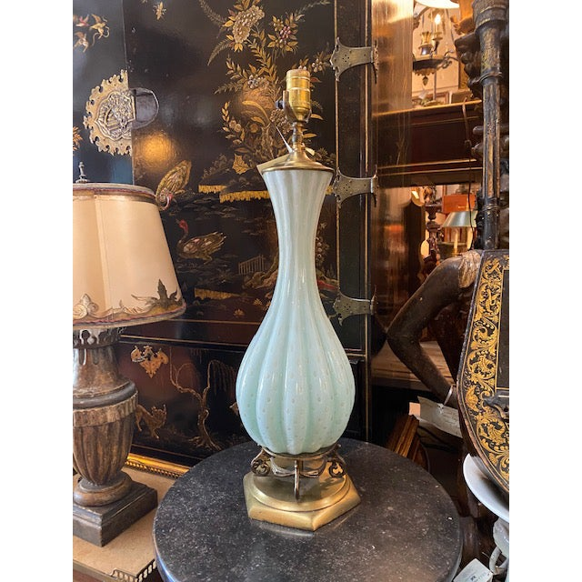 Vintage Murano Glass Lamp For Sale - Image 9 of 11