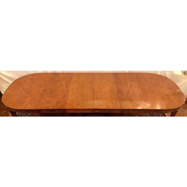 Gold Antique French Empire Style Circassian Walnut Dining Suite: Table, Sideboard and 12 Chairs. For Sale - Image 8 of 13