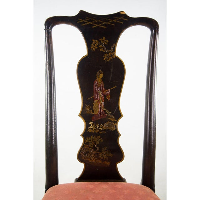 Chinoiserie Chinoiserie Queen Anne Chairs - A Pair For Sale - Image 3 of 11