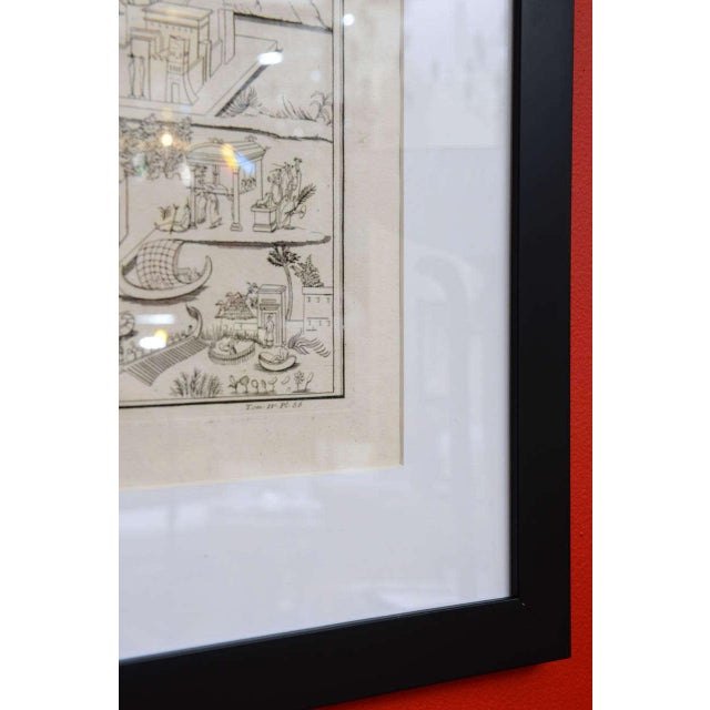 Paper Plate of the Temple of Fortune Primigenia For Sale - Image 7 of 11