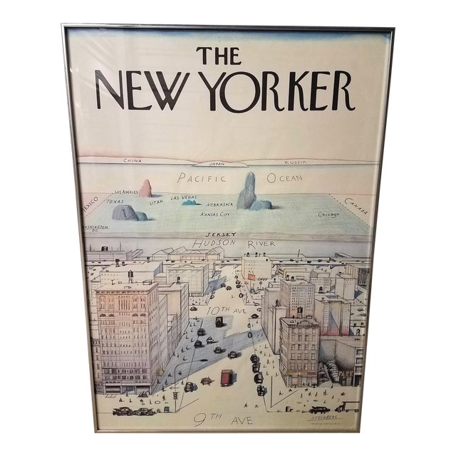 The New Yorker Saul Steinberg Art Print For Sale