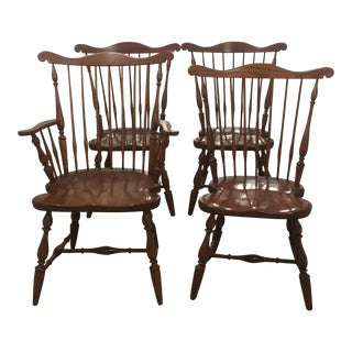 Harden Wooden Windsor Chairs - Set of 4