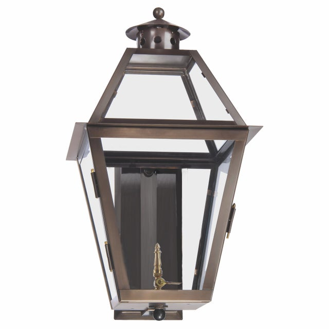 Not Yet Made - Made To Order Lantern & Scroll Charleston Wall Mount Gas Lantern For Sale - Image 5 of 5