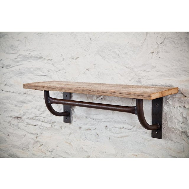 Industrial Modern Wall-Hung Shelf With Towel Bar - Image 2 of 4