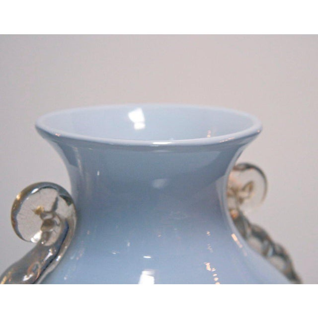 Glass Murano Glass Vase by Toso For Sale - Image 7 of 8