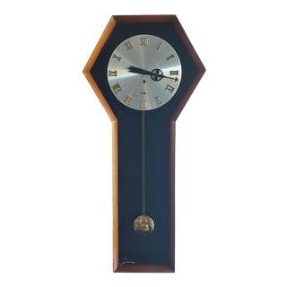 Vintage Modern Arthur Umanoff for Howard Miller Pendulum Wall Clock For Sale