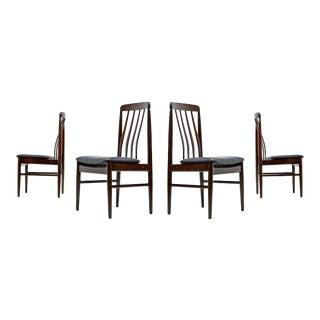 Danish Rosewood Dining Chairs Contoured Ergonomic Design For Sale