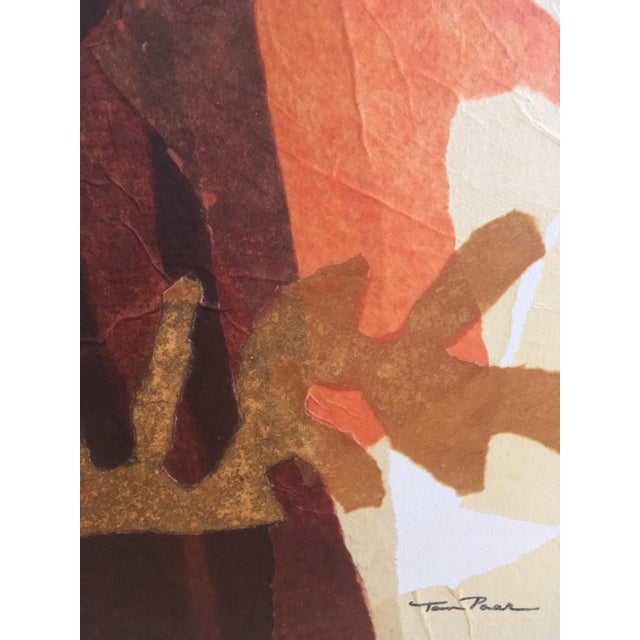 Large Mid-Century Abstract Mixed Media Collage by Tom Paar For Sale In Chicago - Image 6 of 9