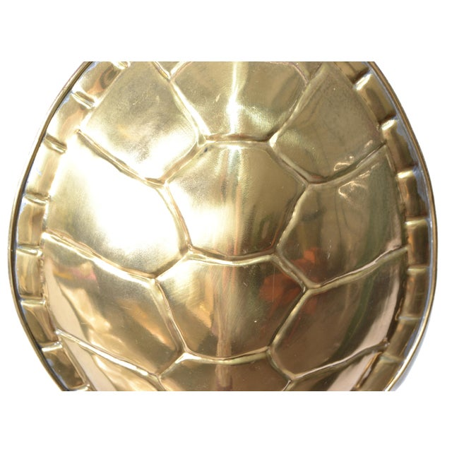 Brass Chapman Polished Brass & White Enamel Tortoise Shell Sconce, Wall Light, Usa 70s For Sale - Image 8 of 13