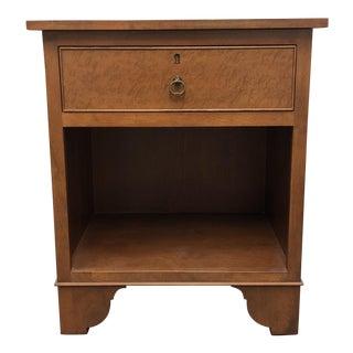 Walnut Finish Single Drawer Side Table