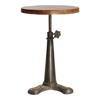 Wood & Iron Adjustable Stool