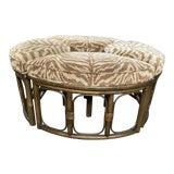 Image of Mid Century Clark Casual Furniture 4 Piece Ottaman For Sale