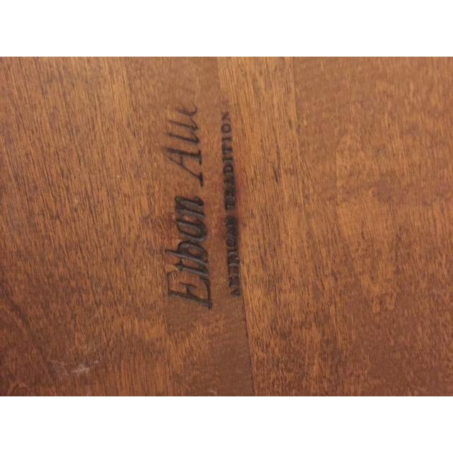 1960s Ethan Allen Mid-Century Traditional Slate Top Pecan End Table For Sale - Image 5 of 9