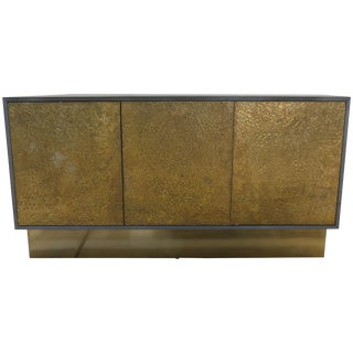 Bridges Over Time Originals Credenza in Iron and Brass Finish For Sale