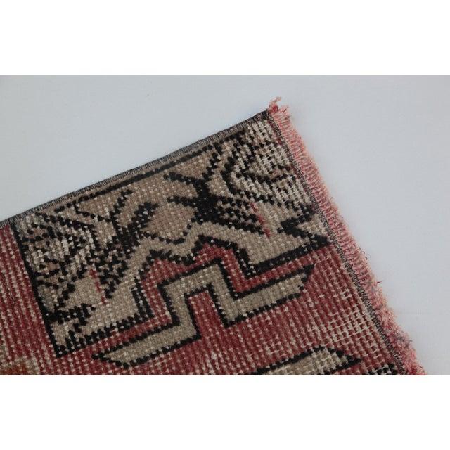 "Islamic 1970s Turkish Wool Rug - 34"" X 16"" For Sale - Image 3 of 9"