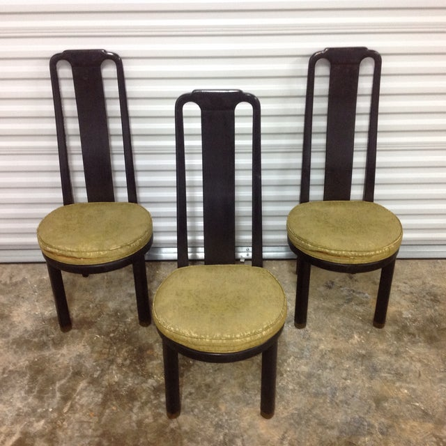 Asian Modern Black Lacquer Chair by Henredon - Image 3 of 9