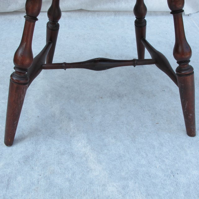 New England Bow-Back Windsor Arm Chair - Image 8 of 10