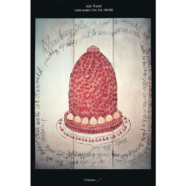 Andy Warhol Strawberry Jello Poster For Sale