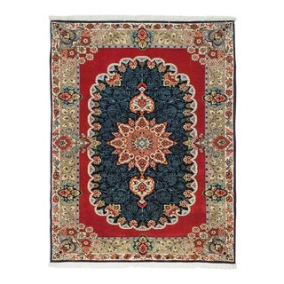 """Sarouk, Hand Knotted Persian Rug - 3' 6"""" X 4' 8"""" For Sale"""