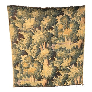 19th Century French Tapestry of Forest Scene For Sale