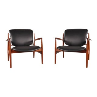 Set of Two Easy Chairs FD 136 by Finn Juhl for France & Son, circa 1950