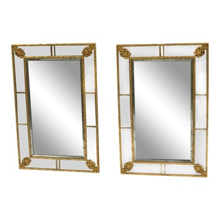 Neoclassical Style Giltwood Wall Mirrors - a Pair For Sale