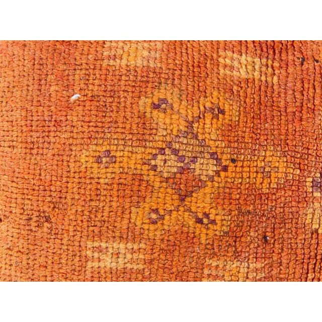 Burnt Orange Boujaad Handmade Pouf Cover For Sale - Image 8 of 13