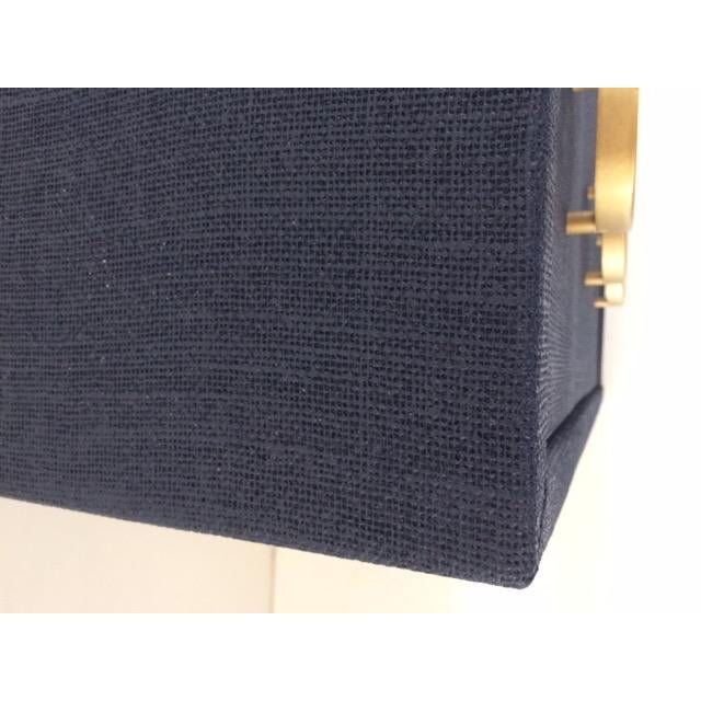 2010s Contemporary Todd Hase Three Drawer Burlap Wrapped Chest For Sale - Image 5 of 13