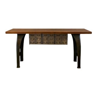 Industrial Console Work Table For Sale