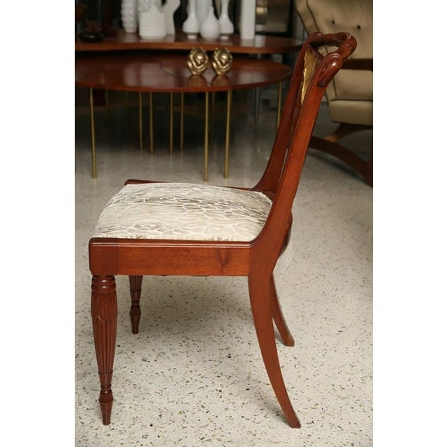 1930s Set of Four Art Deco Side Chairs by Pierre Lahalle, France For Sale - Image 5 of 9