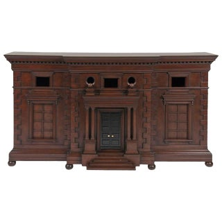 Architecturally Influenced American Credenza For Sale