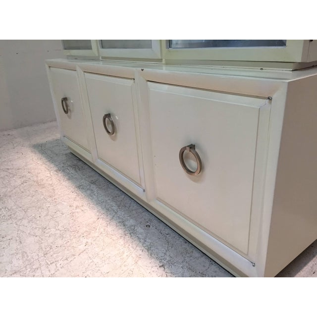 Silver Leaf Robsjohn-Gibbings for Widdicomb Cabinet With Sliver Leaf Door Panels For Sale - Image 7 of 9