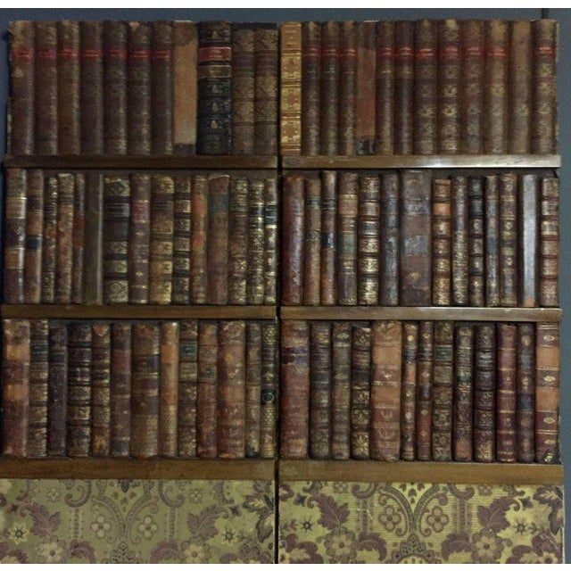 Late 19th Century Panels of 18th Century French Bookbinds For Sale - Image 4 of 11