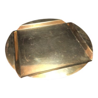 Vintage Art Deco Brass Tray For Sale