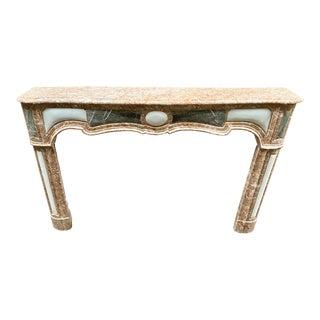 Louis XVI Peach Marble Mantel For Sale