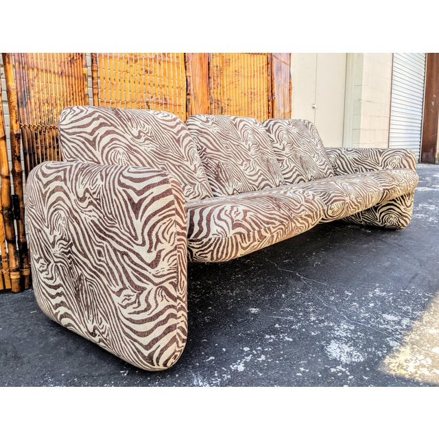 "1980s 1980s Contemporary Ray Wilkes for Herman Miller ""Chicklet"" Sofa For Sale - Image 5 of 9"