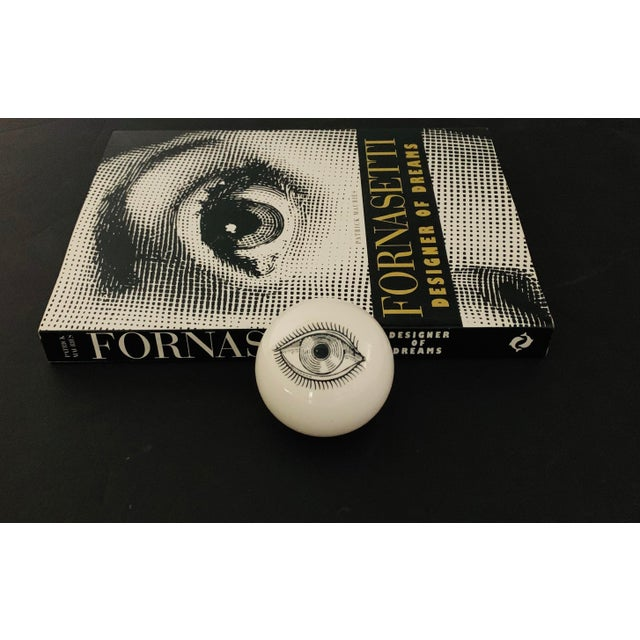 1960s Piero Fornasetti Surrealist Ceramic Eye Eyeball Paperweight For Sale - Image 10 of 11