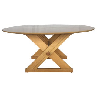 Paul Laszlo for Brown-Saltman Dining / Game Table With Copper Accents For Sale