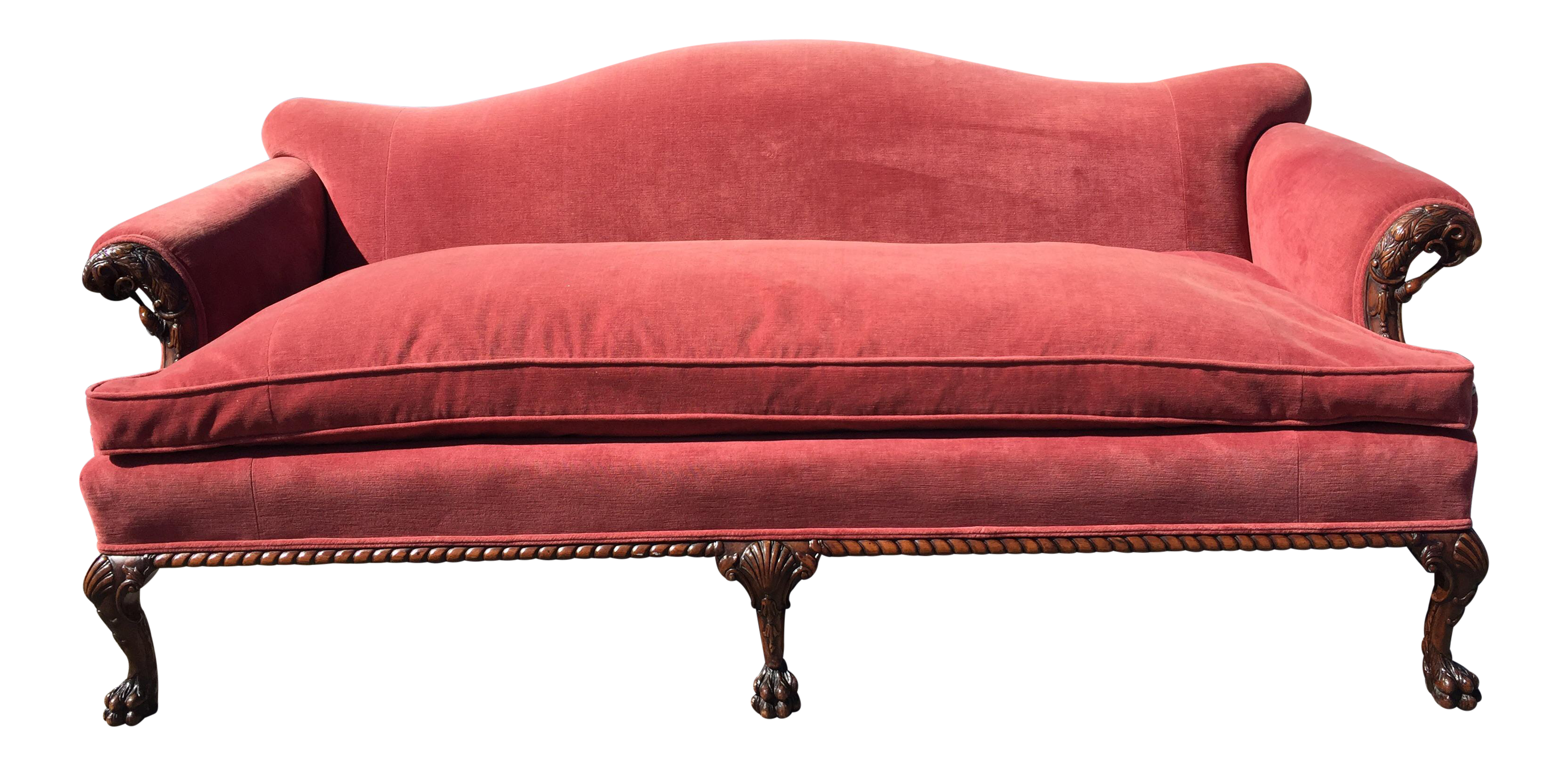 Early 1900s Chippendale Reproduction Sofa Chairish