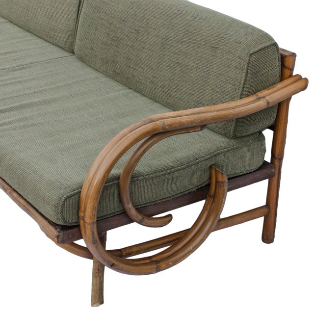 Mid-Century Rattan Sectional Sofa - Image 6 of 11